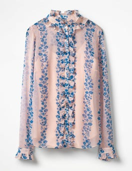 Seashell Flowerbed Kathleen Ruffle Shirt