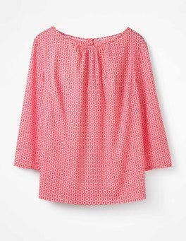 Coral Sunset Pompom Spot Yvonne Top