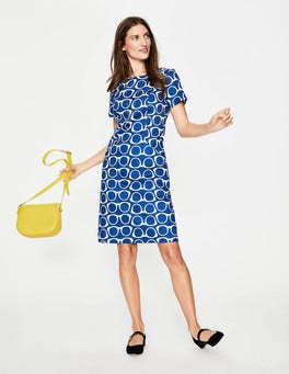 Riviera Blue Glasses Angela Textured Dress