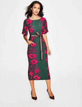 Hunter Green Poppy Elspeth Dress