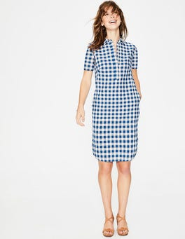 Riviera Blue Gingham  Eleanor Dress