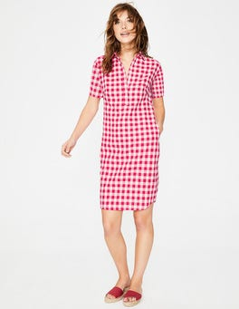 Hibiscus Gingham Eleanor Dress