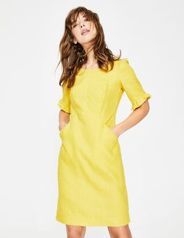 Mimosa Yellow Addilyn Linen Dress