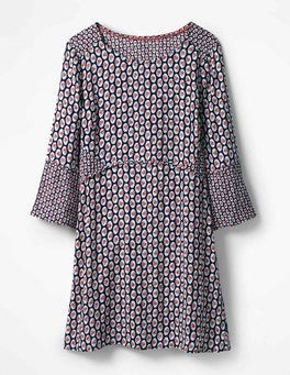 Navy Cameo Floral Edna Tunic