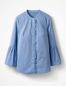 Hemd mit Glockenärmeln