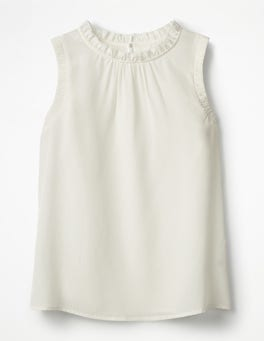 Ivory Effie Silk Top