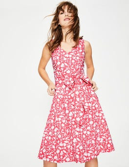 Coral Sunset Meadow Jade Dress