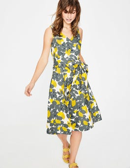Dark Sage Lemons Jade Dress