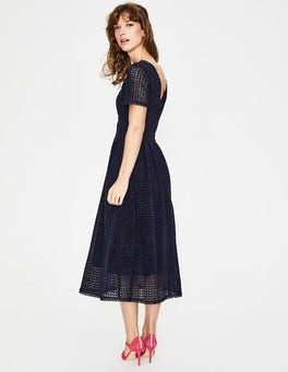 Navy Julieta Lace Dress