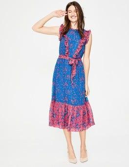 Cyan Flower Meadow Elise Dress