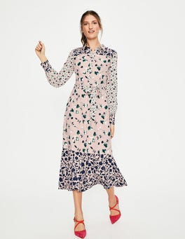 Pink Pearl Wildflower Sybil Shirt Dress