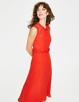 Red Pop Effie Silk Dress