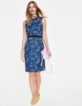 Riviera Blue Wildflower Martha Dress