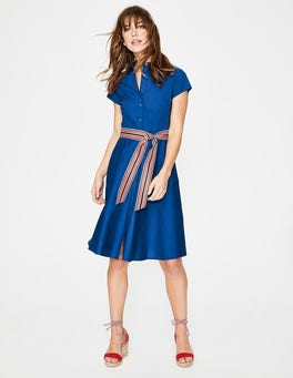 Riviera Blue Sophia Shirt Dress