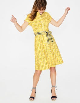 Mimosa Pompom Spot Sophia Shirt Dress