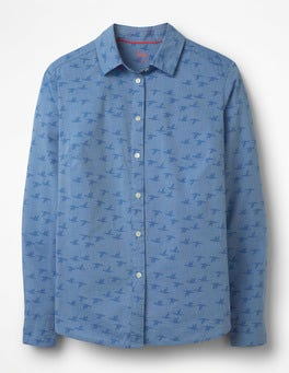 Soft Blue Birds The Classic Shirt