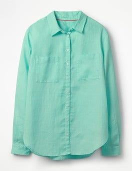 Aqua Sky The Linen Shirt