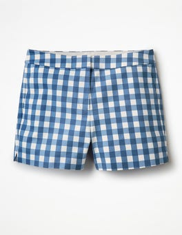 Riviera Blue Gingham Richmond Shorts