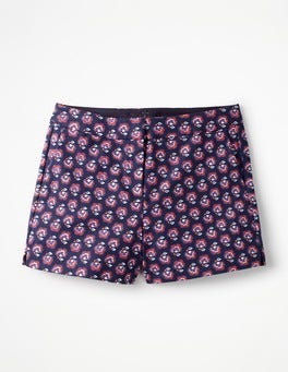 Navy, Woodblock Floral Richmond Shorts