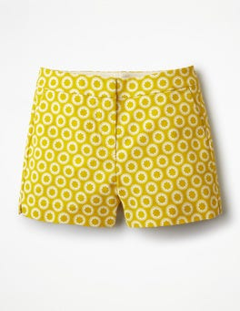 Mimosa Yellow, Pompom Spot Richmond Shorts