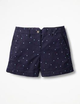 Navy with Hazy Sky Spot Rachel Chino Shorts