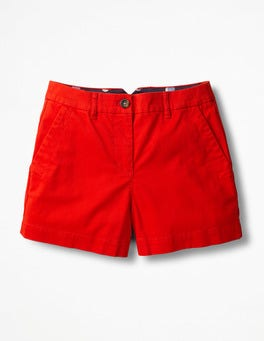 Red Pop Rachel Chino Shorts