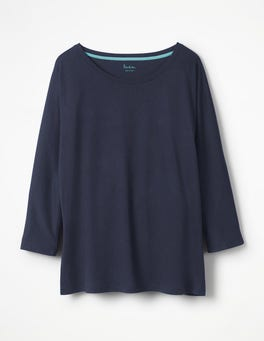 Navy Supersoft Oversized Tee