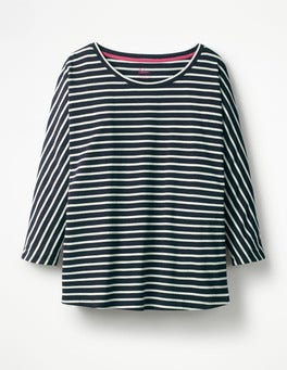 Navy/Ivory Supersoft Oversized Tee