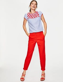 Red Pop Rachel Chino Trousers