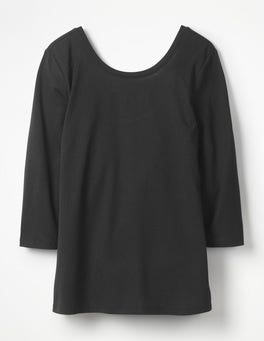 Black Supersoft Ballet Back Tee