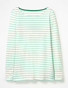 Ivory/Ripple Long Sleeve Breton