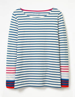 Riviera Blue Multi Long Sleeve Breton