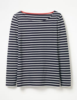 Navy/Ivory Long Sleeve Breton