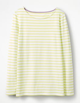 Ivory/Citrus Long Sleeve Breton