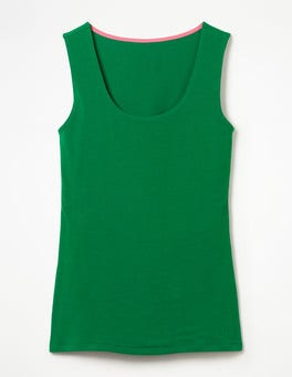 Sap Green Double Layer Front Vest