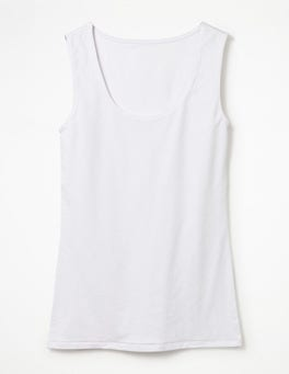 White Double Layer Front Vest