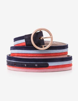 Multi Stripe Classic Belt