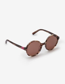 Brown Horn Althea Sunglasses