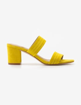Mimosa Yellow Orella Suede Mules