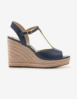 Navy Carrie Espadrille Wedges
