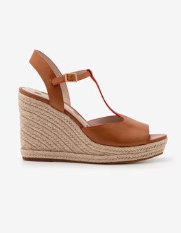 Tan Carrie Espadrille Wedges