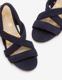 Navy Ava Espadrille Sandals