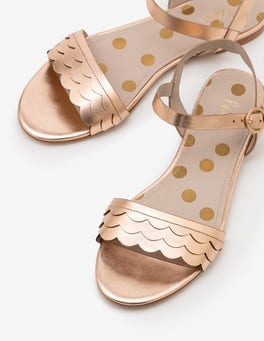 Rose Gold Metallic Ruth Sandals