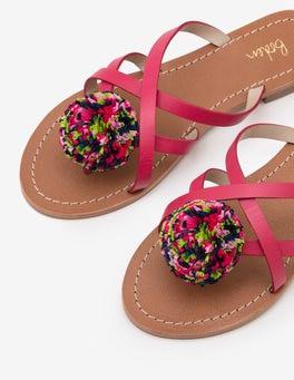 Sandales à pompon Emma
