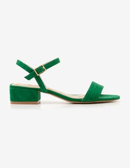 Sap Green Zoe Heeled Sandals