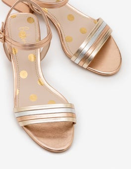 Rose Gold Zoe Heeled Sandals
