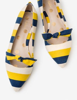 Soft Lime and Blue Stripe Lottie Pumps