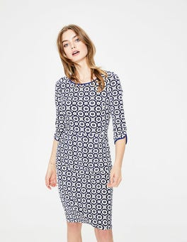 Navy Daisy Chain Jessie Jersey Dress