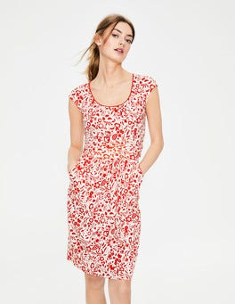 Red Pop Folk Mono Margot Jersey Dress