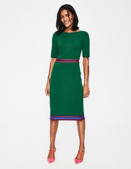 Sap Green/Multi Stripe Kaia Ottoman Dress